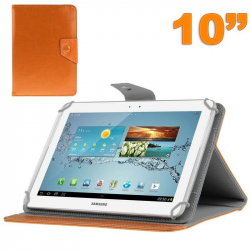 Housse universelle tablette 10 pouces ajustable 10.1'' support Orange - Housse tablette - www.yonis-shop.com