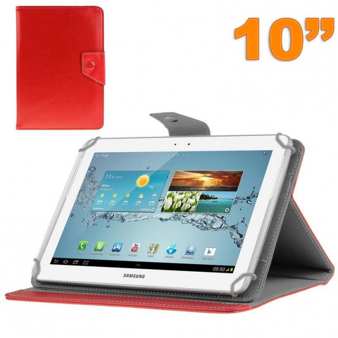 Housse universelle tablette 10 pouces ajustable 10.1'' support Rouge
