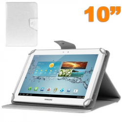 Housse universelle tablette 10 pouces ajustable 10.1'' support Blanc
