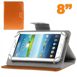 Housse tablette 8 pouces universelle support etui protection Orange
