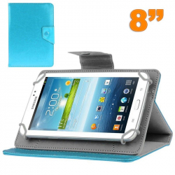 Housse tablette 8 pouces universelle support etui protection Bleu ciel - Housse tablette - www.yonis-shop.com