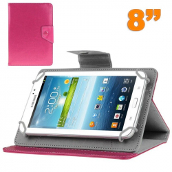 Housse tablette 8 pouces universelle support etui protection Rose