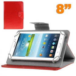 Housse tablette 8 pouces universelle support etui protection Rouge - Housse tablette - www.yonis-shop.com