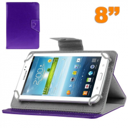 Housse tablette 8 pouces universelle support etui protection Violet