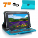 Etui de protection tablette 7 pouces 360 ° simili cuir Bleu ciel - Housse tablette - www.yonis-shop.com
