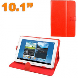 Housse tablette 10.1 pouces protection universelle simili cuir Rouge - Housse tablette - www.yonis-shop.com
