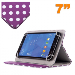 Housse universelle tablette tactile 7 pouces Violet à pois blancs - Housse tablette - www.yonis-shop.com