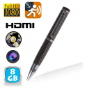 Stylo espion caméra Full HD 1080p détection de mouvement Marron 8 Go - Stylo espion - www.yonis-shop.com