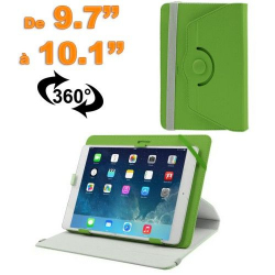 Housse universelle tablette 9.7 - 10.1 pouces support 360° Vert - Housse tablette - www.yonis-shop.com