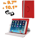 Housse universelle tablette 9.7 - 10.1 pouces support 360° Rouge - Housse tablette - www.yonis-shop.com
