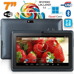 Tablette 7 pouces Bluetooth Quad Core Android 5.1 Lollipop 72Go Noir