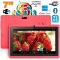 Tablette 7 pouces Bluetooth Quad Core Android 5.1 Lollipop 72Go Rose - Tablette tactile 7 pouces - www.yonis-shop.com