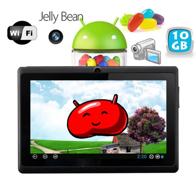 Tablette tactile Android 4.1 Jelly Bean 7 pouces capacitif 10 Go Noir