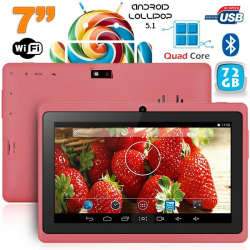 Tablette 7 pouces bluetooth Quad Core Android 5.1 Lollipop 72Go Violet