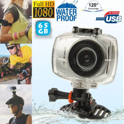 Camera embarquée étanche caisson waterproof Grand angle Full HD 65 Go Camera sport étanche YONIS