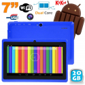 Tablette tactile Android 4.4 KitKat 7 pouces Dual Core 20 Go Bleu - Tablette tactile 7 pouces - www.yonis-shop.com