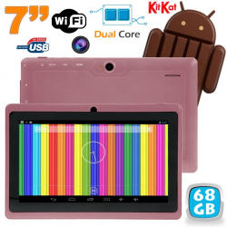 Tablette tactile Android 4.4 KitKat 7 pouces Dual Core 68 Go Violet