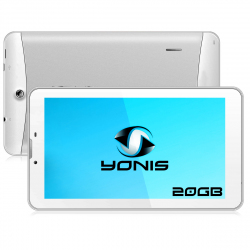 Tablette 3G 7 pouces GPS OTG Android 4.4 Double SIM 20Go Blanc