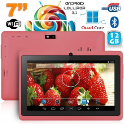 Tablette 7 pouces bluetooth Quad Core Android 5.1 Lollipop 12Go Violet