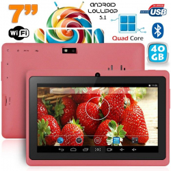 Tablette 7 pouces bluetooth Quad Core Android 5.1 Lollipop 40Go Violet
