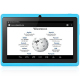 Tablette 7 pouces Bluetooth Quad Core Android 5.1 Lollipop 16Go Bleu - Tablette tactile 7 pouces - www.yonis-shop.com