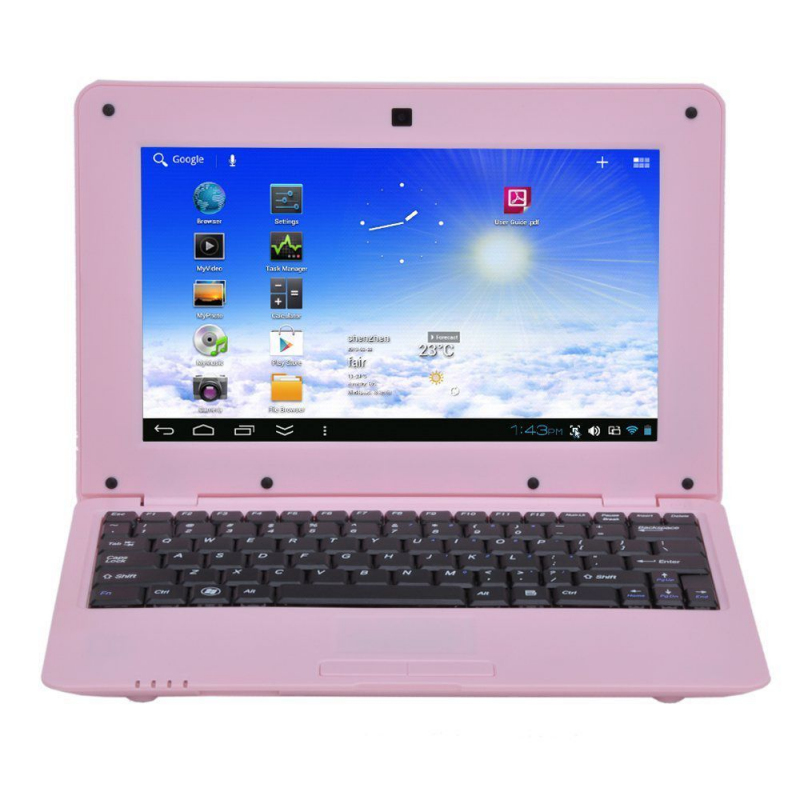 mini pc android ultra portable netbook 10 pouces wifi 12 go rose. Black Bedroom Furniture Sets. Home Design Ideas