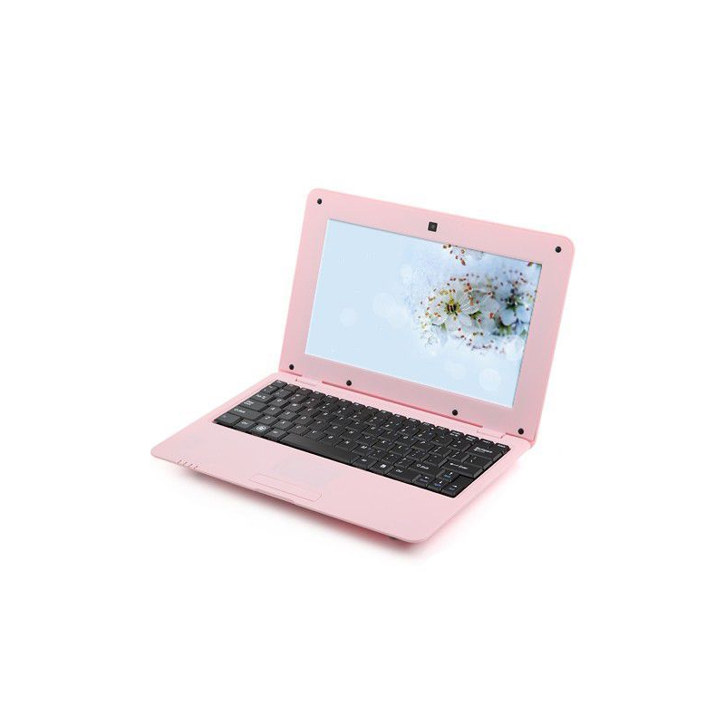 mini pc android 4 4 netbook ultra portable 10 pouces wifi 24go rose. Black Bedroom Furniture Sets. Home Design Ideas