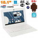 Mini PC Android 4.4 Netbook Ultra portable 10 pouces WiFi 24Go Blanc - Netbook Android - www.yonis-shop.com