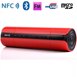 Enceinte Bluetooth universelle portable FM kit mains-libres NFC Rouge Enceinte Bluetooth YONIS