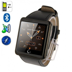 Uwatch U10 1.54 Inch Screen Bluetooth Smart Watch, Support Pedometer / Sleep Monitoring / Remote Capture / E-compass(Black)