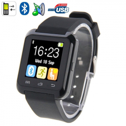 Montre Connectée Bluetooth Android ecran LCD kit main libre Noir - Montre connectée / Smartwatch - www.yonis-shop.com