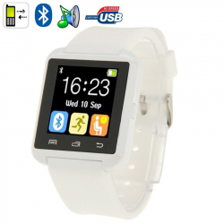 Montre Connectée Bluetooth Android ecran LCD kit main libre Blanc - Montre connectée - www.yonis-shop.com