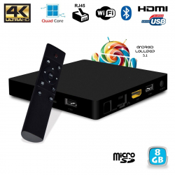 Mini PC Android TV BOX 4K Quad Core Lollipop 5.1 Bluetooth WiFi 8Go Android TV box YONIS