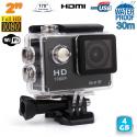 """Caméra sport étanche WiFi 2\\"""" Full HD 1080p time lapse 170° noir 4 Go - Caméra waterproof - www.yonis-shop.com"""