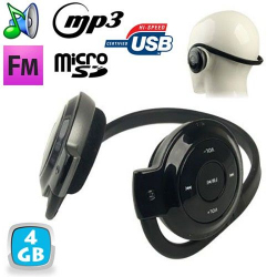 Casque sport lecteur audio MP3 sans fil Radio FM Running 4 Go Casque audio YONIS