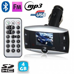 Transmetteur FM voiture Bluetooth MP3 USB Carte SD Jack 3.5mm 4 Go - Transmetteur FM - www.yonis-shop.com