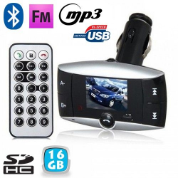 Transmetteur FM voiture Bluetooth MP3 USB Carte SD Jack 3.5mm 16 Go - Transmetteur FM - www.yonis-shop.com