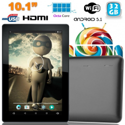 Tablette tactile 10 pouces Android Lollipop 5.1 Octa Core 32Go Noir