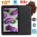 Tablette 10 pouces Quad Core Android 4.4 WiFi Bluetooth 24Go Noir - Tablette tactile 10 pouces - www.yonis-shop.com