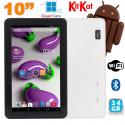 Tablette 10 pouces Quad Core Android 4.4 WiFi Bluetooth 24Go Blanc - Tablette tactile 10 pouces - www.yonis-shop.com