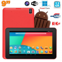 Tablette tactile 9 pouces Android 4.4 Bluetooth Quad Core 12Go Rouge - Tablette tactile 9 pouces - www.yonis-shop.com