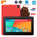 Tablette tactile 9 pouces Android 4.4 Bluetooth Quad Core 72Go Rouge - Tablette tactile 9 pouces - www.yonis-shop.com