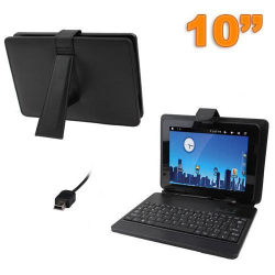 Housse clavier tablette tactile 10 pouces universelle Mini USB Noir - Housse tablette - www.yonis-shop.com