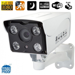Caméra IP vision nocturne 80m waterproof masque de confidentialité HD