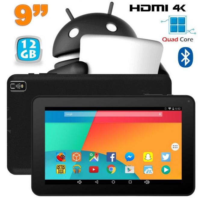 Tablette 9 pouces Android 6.0 Tactile 1,5GHz 1Go RAM Noir 12Go - Tablette tactile 9 pouces - www.yonis-shop.com