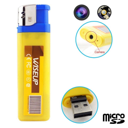 Briquet camera espion mini appareil photo caché USB Micro SD - Briquet caméra - www.yonis-shop.com