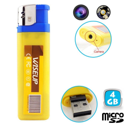Briquet camera espion mini appareil photo caché USB Micro SD 4 Go