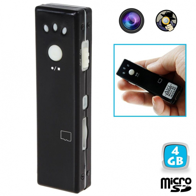 Mini camera espion appareil photo video chewing gum Micro SD USB 4 Go - Autres caméras espion - www.yonis-shop.com