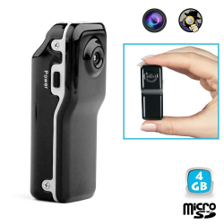 Mini camera espion portable détection sonore USB Micro SD 4 Go