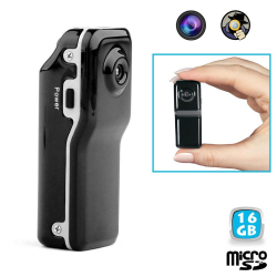 Mini camera espion portable détection sonore USB Micro SD 16 Go